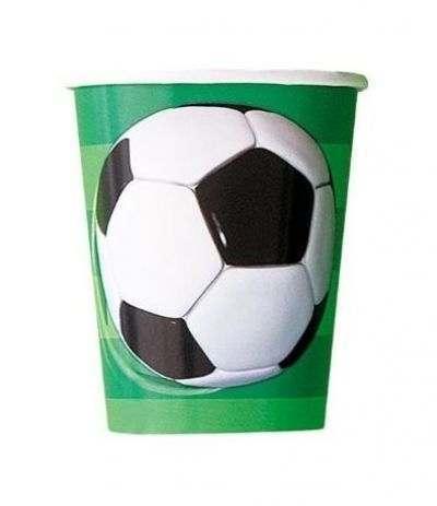 bicchiere calcio verde