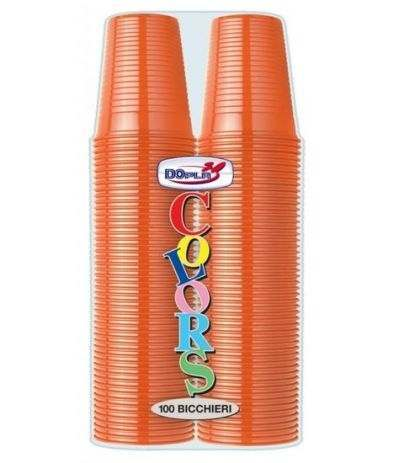 bicchieri dopla arancio- 100 pezzi