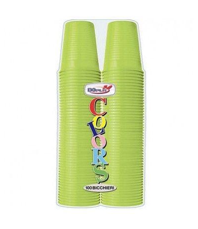 bicchieri dopla verde acido- 100 pezzi