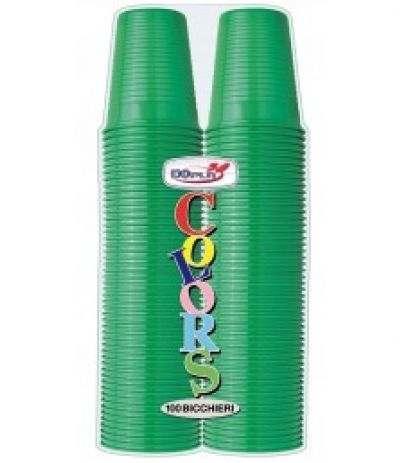 bicchieri dopla verde scuro- 100 pezzi