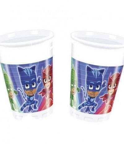 Bicchieri Super Pigiamini Pj Masks - 8 Pezzi
