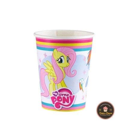 bicchieri little pony- 8 pezzi