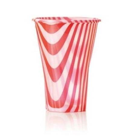 bicchieri coppette rosse- 7 pezzi