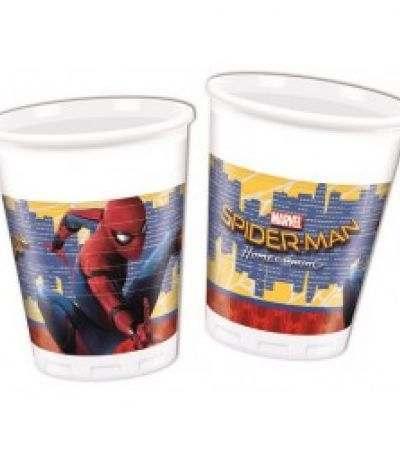 bicchieri spiderman 2- 8 pezzi