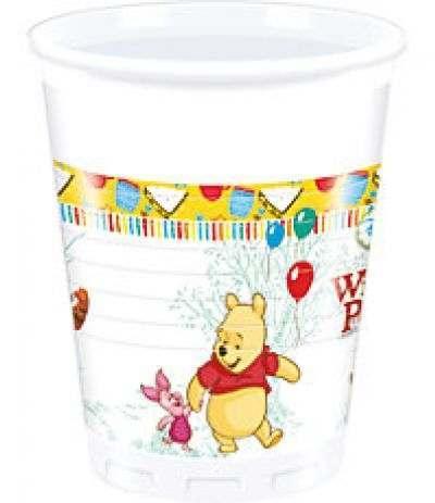 Bicchieri Winnie The Pooh - 8 Pezzi