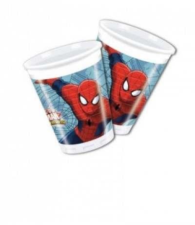 Bicchieri spiderman- 8 pezzi