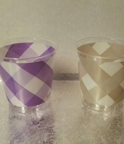 bicchieri trasparenti lilla quadri- 10 pezzi