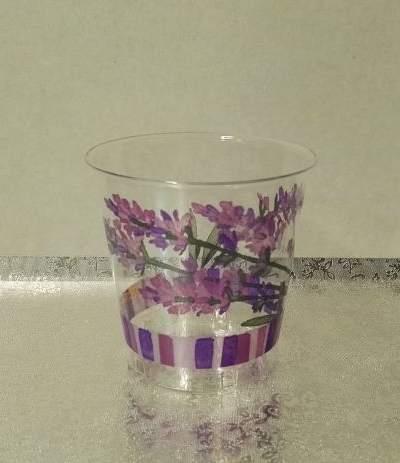 bicchieri trasparenti lilla lavanda- 10 pezzi