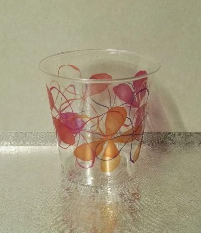 bicchieri trasparenti fresh pink- 10 pezzi