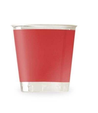 bicchieri trasparenti rossi- 10 pezzi