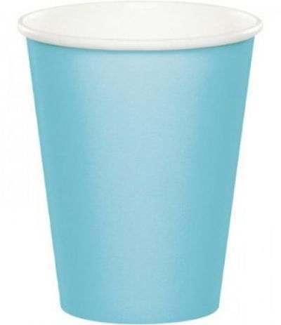bicchieri cartone azzurri- 10 pezzi
