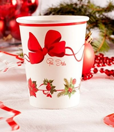 bicchieri cartone christmas- 10 pezzi