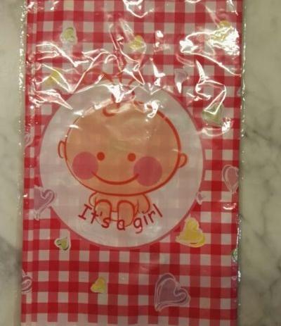 tovaglia baby rosa 'it's a girl' 135x220 cm