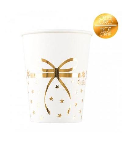 bicchiere stelline oro