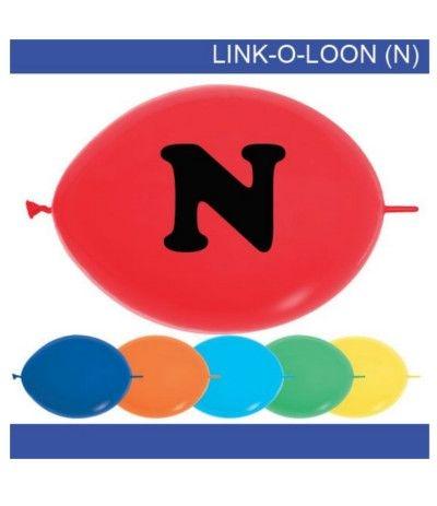 palloncino vari colori lettera N