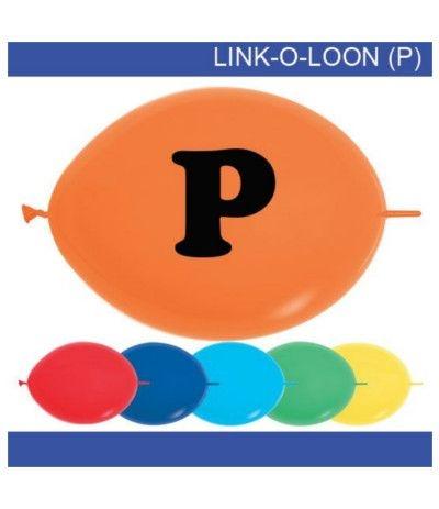 palloncino vari colori lettera P