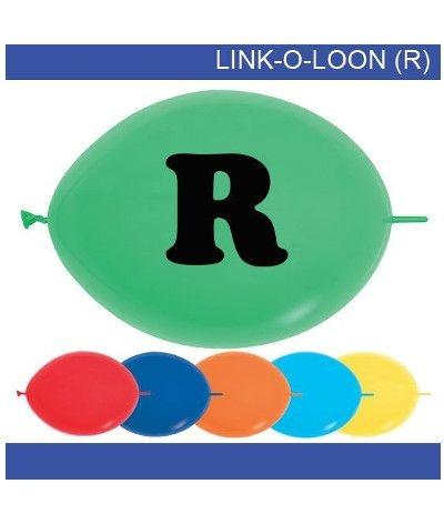 palloncino vari colori lettera R