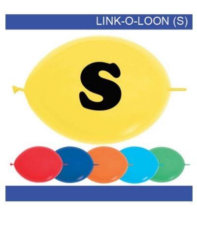 palloncino vari colori lettera S