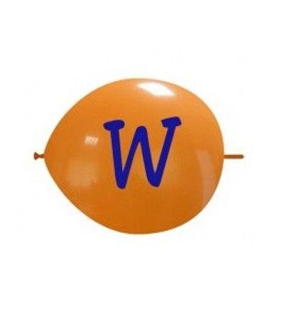 palloncino vari colori lettera W