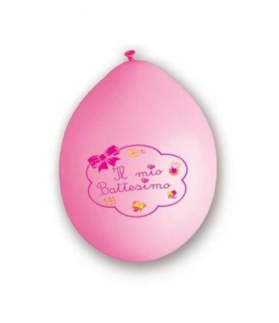 palloncini rosa lattice il mio battesimo