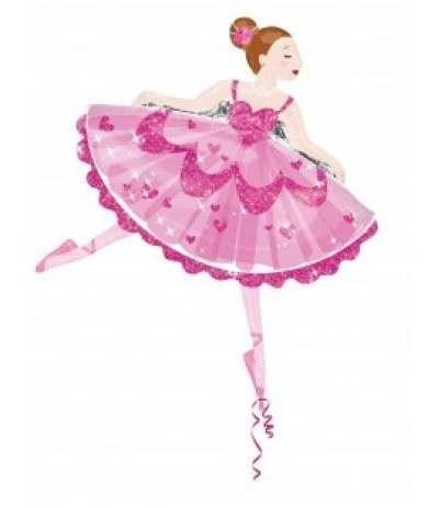 palloncino mylar ballerina super shape