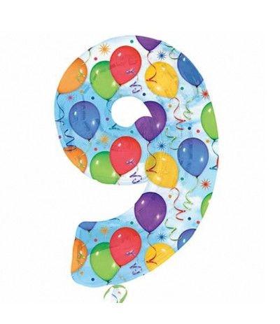 palloncino balloon numero 9- 1 mt