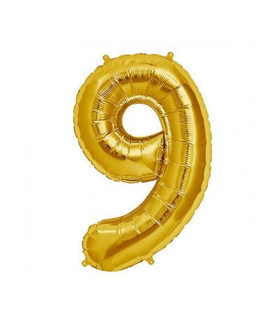 palloncino mayler numero 9 oro cm 100