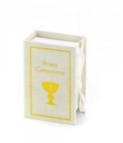 scatola confetti library comunione cm5x8