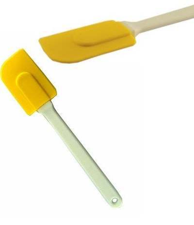 spatola in silicone gialla