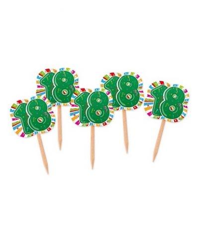 bandierine buffet 18 anni verde- 25 pezzi