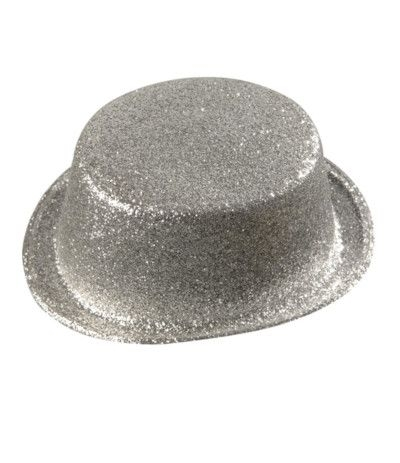 cappellino paiettato per feste argento