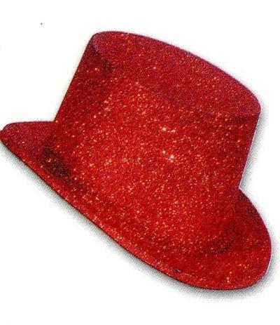cappellino paiettato per feste rosso
