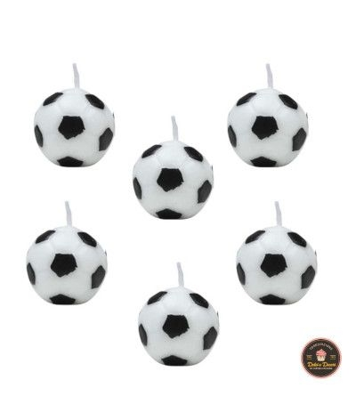 Candeline palloni calcio juve-6 pezzi