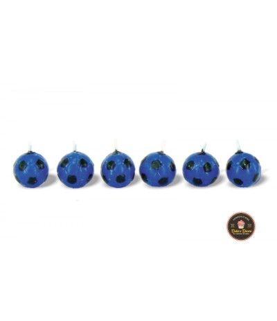 Candeline palloni calcio inter- 6 pezzi