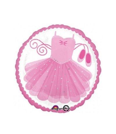 Palloncino mylar ballerina rosa vestitino- 45 cm