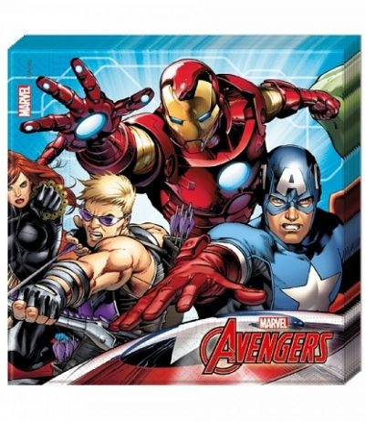 Tovaglioli Azzurri Avengers- 20 pezzi
