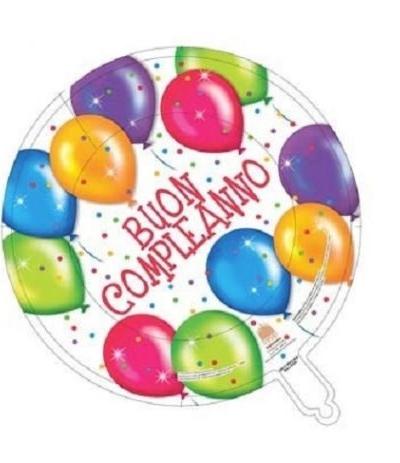 pallone mylar buon compleanno
