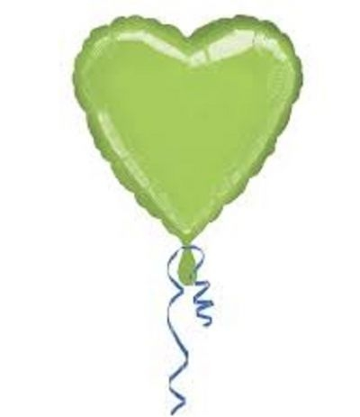 palloncino mylar cuore verde lime