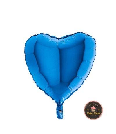palloncino mylar cuore azzurro intenso