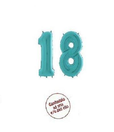 palloncino numero 18 tiffany- 1 mt