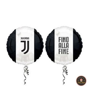 Palloncino mylar Juventus fino alla fine- 43 cm