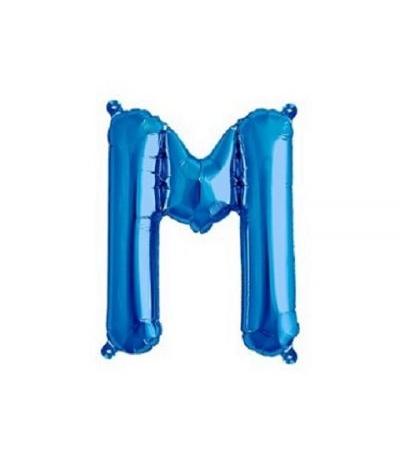 palloncino lettere m blu