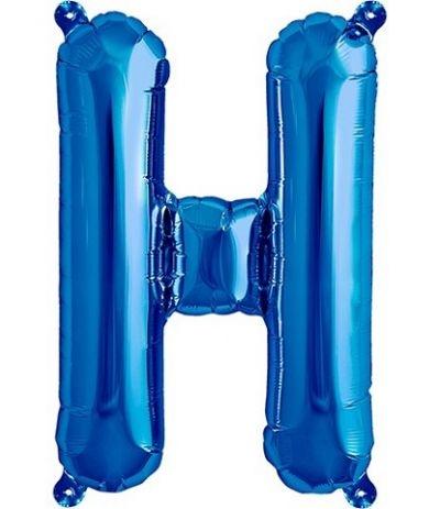 palloncino lettere h blu