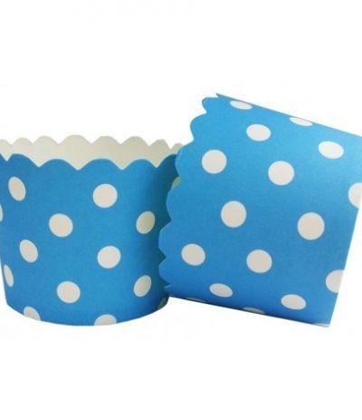pirottini mini a pois blu 18 pezzi