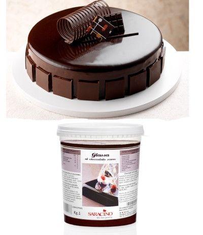 Glassa A Specchio Al Cioccolato Scuro 1kg