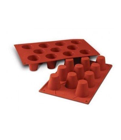 stampo in silicone babà- 11 cavità- 4,5 x 4,8 cm