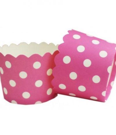 Pirottini mini pois rosa 18 pezzi