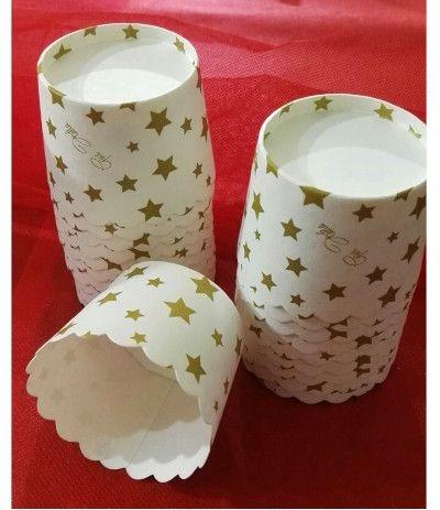 Givi Italia 45521 20 tazze di cottura oro stelle, multicolore