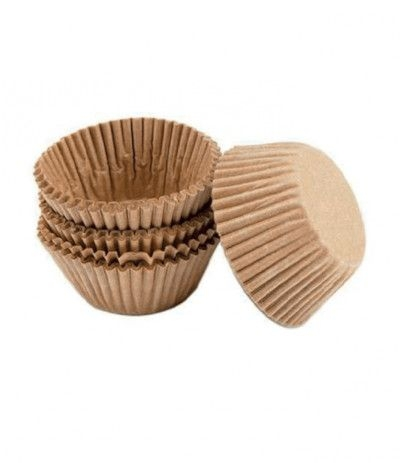 Wilton - Pirottini per dolci in carta Kraft non sbiancata, diametro 5 cm, 75 pezzi, colore: marrone