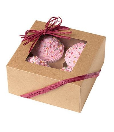 scatole porta dolci kraft naturale